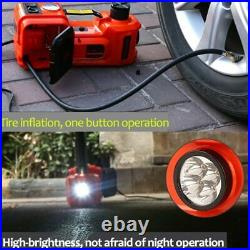 12V 5Ton Car Electric Jack Hydraulic Floor Jack Impact Wrench 45cm Inflator Pump