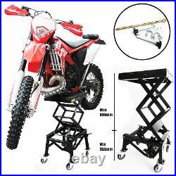 135kgs Hydraulic MX Motorcross Bike Motorcycle Lift Scissor With Wheels
