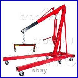 2 Ton Hydraulic Folding Engine Crane Hoist Lift Stand + 450kg Load Leveller