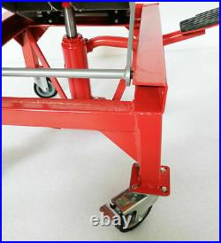 300lb Motorcycle Hydraulic Scissor Floor Jack Lift Hoist Center Lift Stand