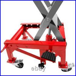 300lb Motorcycle Lifter Heavy Duty Hydraulic Scissor Motor Bike ATV Jack Lift