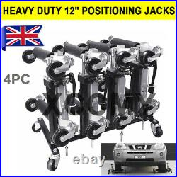 4PCS 1500lbs Positioning Jack Garage Car Wheel Skate Dolly Vehicle 6000lbs UK