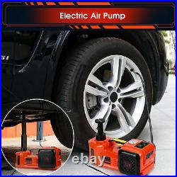5T Electric Car Hydraulic Floor Jack Lift Garage Tire Repair Tool With LED Lamp