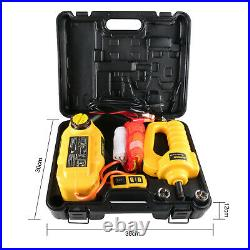 5Ton 6Ton 12V Electric Hydraulic Jack Electric Impact Wrench Repair Tool KIT