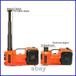 5 Ton Car Jack 12V 5T Electric Hydraulic Floor Lift Jack LED Air Pump Repair