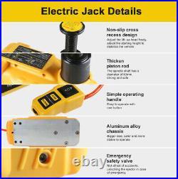 AUTOOL 12V 5T Auto Electric Hydraulic Floor Jack Lift Pump Set Car SUV 105-335mm