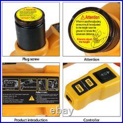 AUTOOL 12V 6T Auto Electric Hydraulic Floor Jack Lift Pump Set Car SUV 150-430mm