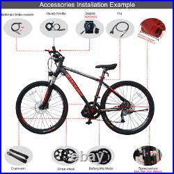 BAFANG BBS02 48V 750W Mid Drive Motor Conversion Kits DIY E-bike DPC18 Display