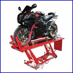 Biketek Hydraulic Workshop Non-Slip Metal Heavy Duty Motorcycle Bike Lift Table