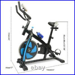 Blue Exercise Bike Home Gym Training Bicycle Fitness Cardio Workout Machine