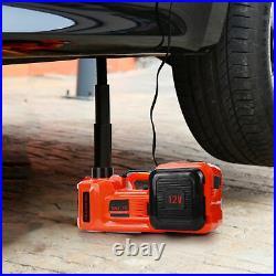 Car 12V 5 Ton Electric Hydraulic Floor Lift Scissor Jack Repair Tire Change
