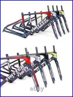 Carbon Fibre Gravel Bike Hydraulic Disc Brake 2x12 speed groupset BLACK