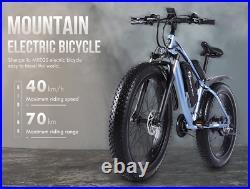 Electric Mountain Bike Fat Tyre 48v 1000w 17ah Battery Hydraulic Brakes UK Stock