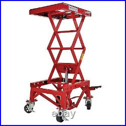 Extreme Max 5001.5083 Hydraulic Motorcycle Lift Table with 300 Lb. Capacity