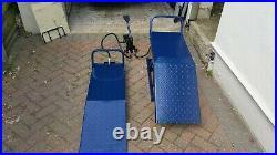Heavy Duty Pair Scissors Lifts Hydraulic Jack Car Ramps 1360KG LIFTING Each