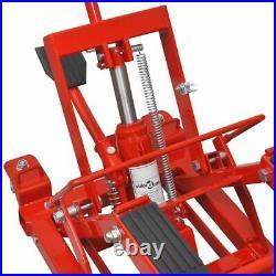 Hydraulic Car Motorcycle 680kg ATV Jack Lift Vehicle Tool Heavy Duty Garage Red