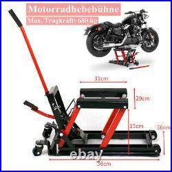 Hydraulic Motorcycle Lift Jack Motorbike Scissor Lift Table Platform Stand 680kg
