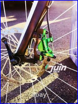 Juin Tech R1 Road Cyclocross Gravel Bicycle Bike Hydraulic Disc Brake Set Green