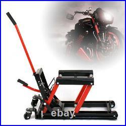Motorcycle ATV Jack Lift Stand Hydraulic Bike 1500LB Auto Hoist Repair 680Kg