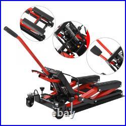 Motorcycle Motorbike Quad Dirt ATV Jack Lift Tool Hoist 1500LB Hydraulic Lifter