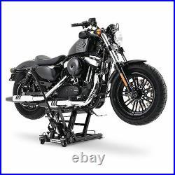 Motorcycle jack scissor lift LRS for Harley Davidson hydraulic paddock stand blk