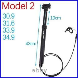 Mtb Dropper Seat post Height Adjustable Internal Routing 100mm Travel Bike Cable