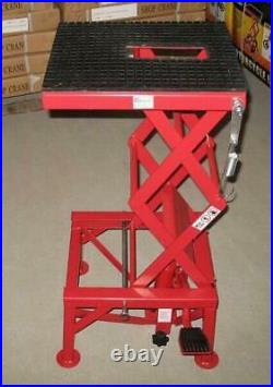 New Hydraulic Motorcycle Lift Heavy Duty Red Scissor Stand 33-060. DR