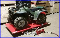 Quad Bike Bench Lift. Motorbike Lift. Ride on Mower Work Bench Hydraulic lift