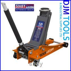 SEALEY 2001LEOR Trolley Jack 2.25tonne Low Entry Rocket Lift Orange