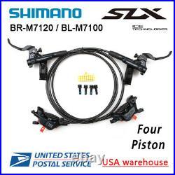 SHIMANO SLX BR-M7120 BL-M7100 Bike 4-Piston MTB Hydraulic Disc Brake Set (OE)