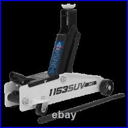 Sealey 1153SUV Trolley Jack 3tonne Long Chassis HIGH LIFT Heavy-Duty
