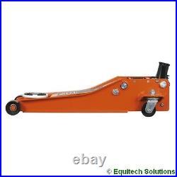 Sealey 2001LEOR 2 Tonne Trolley Jack 74mm Low Profile Entry Quick Rocket Orange