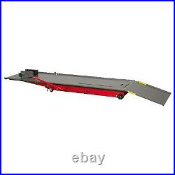 Sealey Hydraulic Motorbike Lift Ramp Bench 454Kg Capacity Sliding Panel