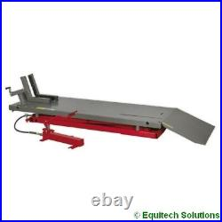 Sealey MC680A Air Hydraulic Motorcycle Motorbike Lift Ramp Bench 680kg Capacity