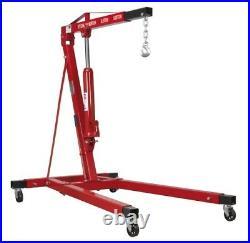 Sealey Tools SC10LR Long Reach 1 Tonne Engine Crane Hoist Lift Extending Legs