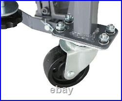 SwitZer Hydraulic Scissor 300lb Bike Motorcycle Lift With 4 Wheel Motorbike ATV
